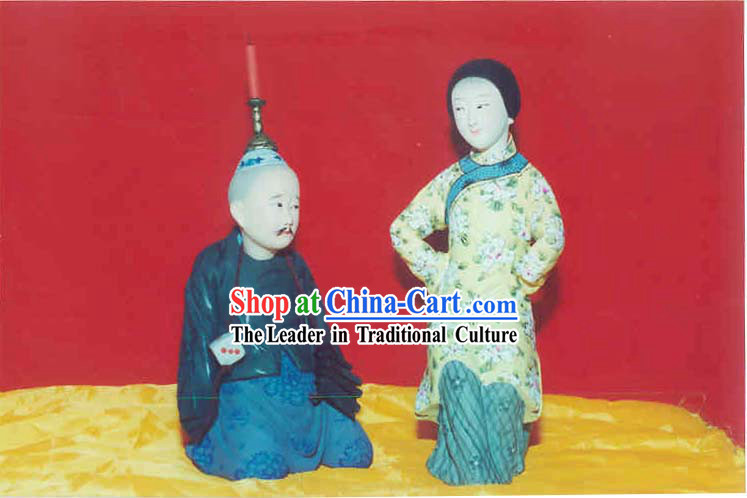 Hand Painted Sculpture Arts of Clay Figurine Zhang-Punishing Husband