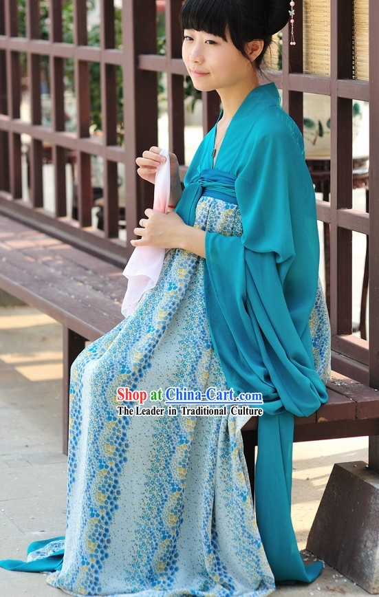 tang dynasty ancient chinese female skirt clothing