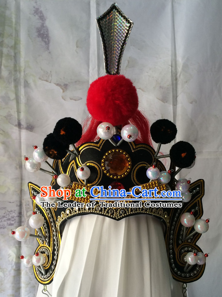 Chinese Opera General Superhero Hat Helmet for Men