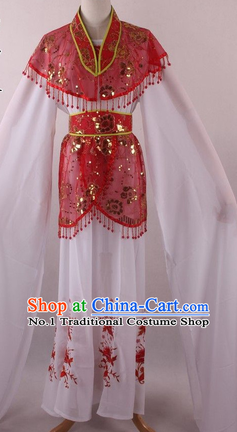 Chinese Culture Chinese Opera Costumes Chinese Cantonese Opera Beijing Opera Costumes Female Water Sleeves Costumes