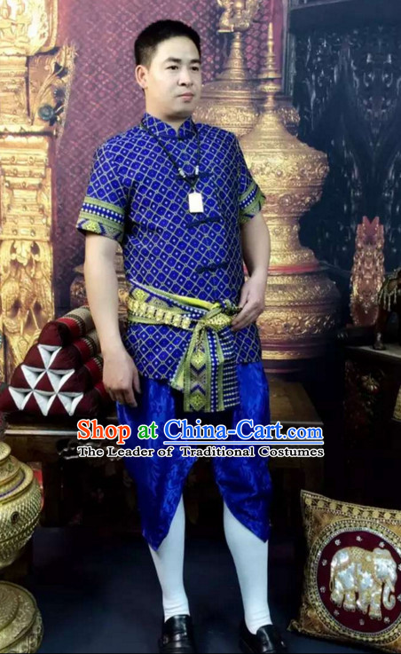 0910efd6e114 Top Traditional National Thai Costumes Garment Dress Thai Traditional Dress  Dresses Wedding Dress Complete Set for Men Boys Youth Kids Adults