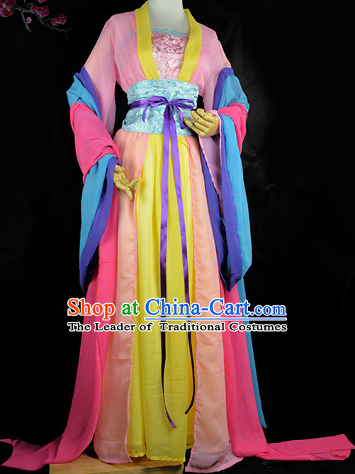 Chinese Traditional Servant Costumes Complete Set for Girls Women