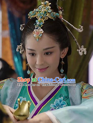 Ancient Chinese Four Beauties Xi Shi Headpieces Hair Jewelry Set