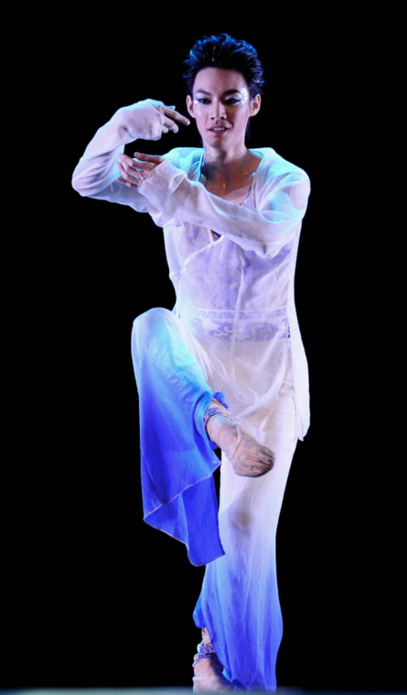 Chinese Mandarin Style Classical Dancing Costumes Complete Set for Men