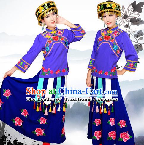 Chinese Minority Nationality Ethnic Groups Wear Dresses