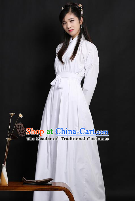 0843d54b9f Traditional Ancient Chinese Young Lady Elegant Costume Slant Opening Blouse  and Skirt Complete Set