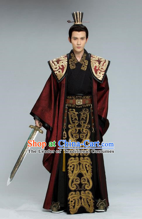 cd0179047 Traditional Chinese Ancient Nobility Childe Costume, Tokgo World China  Northern and Southern Dynasties Prince General Hanfu Clothing and Headwear  Complete ...