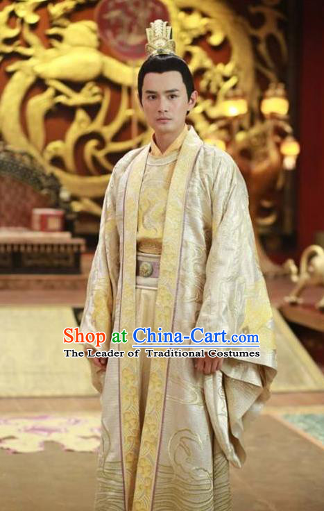 0870e3ca5 Traditional Ancient Chinese Imperial Emperor Costume and Headwear Complete  Set, Elegant Chinese Tang Dynasty King