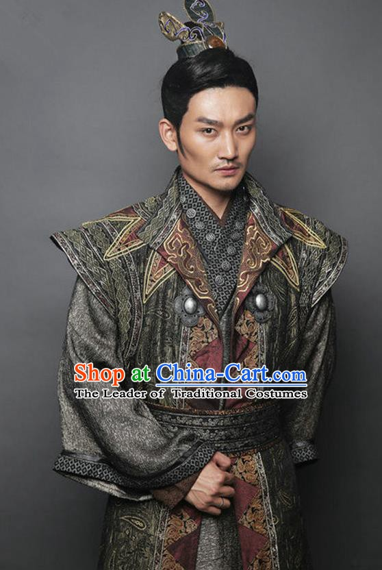 23a6c1c59 Traditional Chinese Ancient Tang Dynasty Swordsman General Replica Costume  for Men