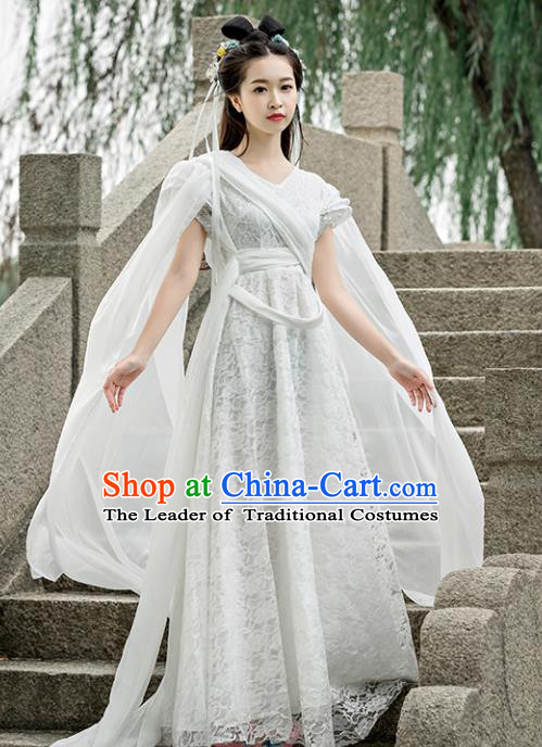d7d79dd3e Traditional Chinese Ancient Fairy Swordswoman Costume, China Tang Dynasty Princess  Hanfu Dress for Women