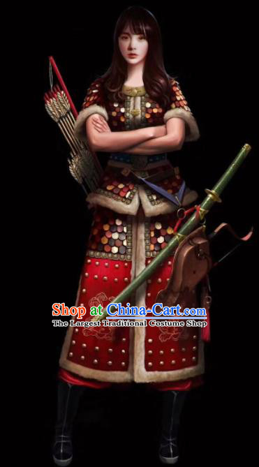 db86caec7 Chinese Ancient Drama Female General Body Armor Costume for Women