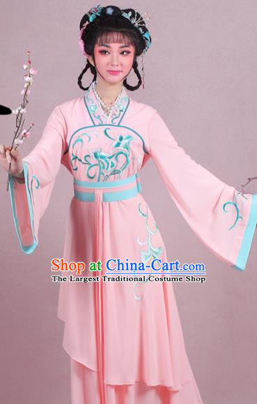 ce357a88d Chinese Traditional Shaoxing Opera Village Girl Embroidered Pink Dress  Beijing Opera Maidservants Costume for Women