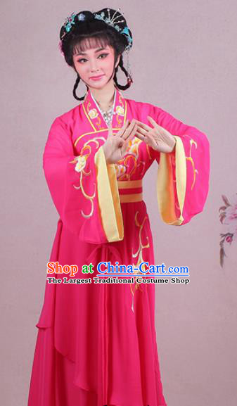 f3ebbc5d2 Chinese Traditional Shaoxing Opera Village Girl Embroidered Rosy Dress  Beijing Opera Maidservants Costume for Women